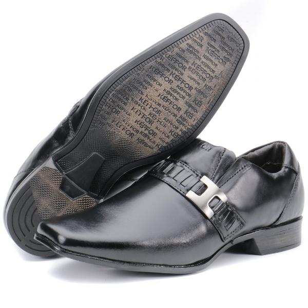 Sapato Social Masculino Em Couro Preto Kéffor Linha Istambull New
