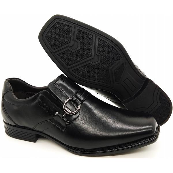 Calçado Sapato Social Em Couro Kéffor Preto Linha Metrópole New