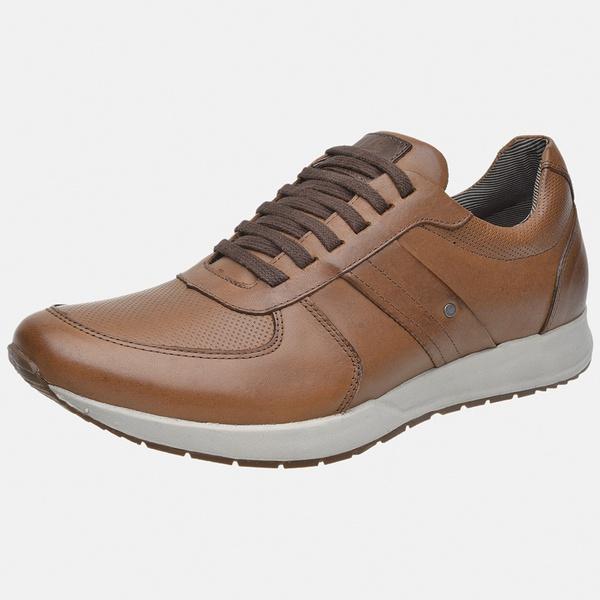 Sapatênis Jogging Em Couro Mega Boots 12031 Doce de Leite