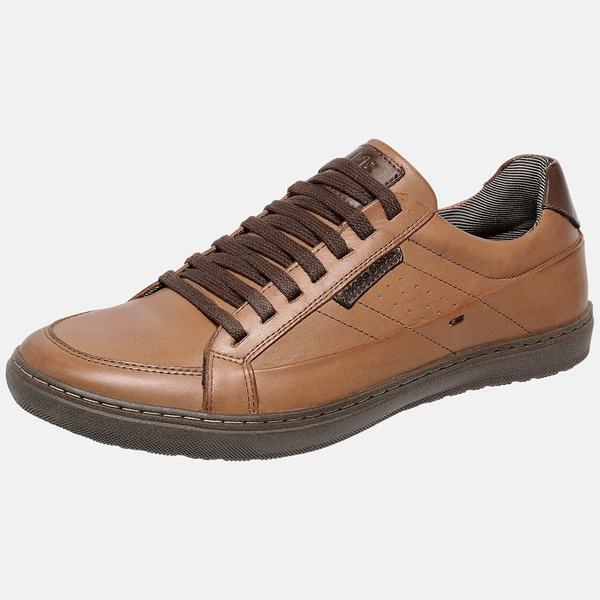 Sapatenis Masculino em Couro Mega Boots 15044 Dleite-Chocolate