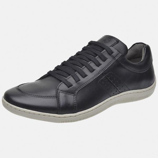 Sapatênis Soft Em Couro Mega boots 16012 Preto