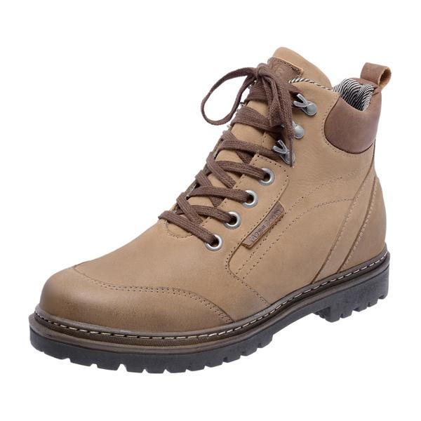 Bota Coturno em couro Mega Boots 6023 Kaki-Café