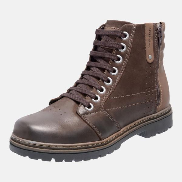 Bota Coturno em Couro Mega Boots 6026 Café-Chocolate