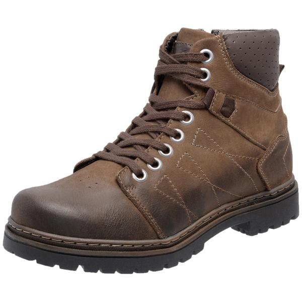 Bota Coturno em Couro Chumbo Mega Boots