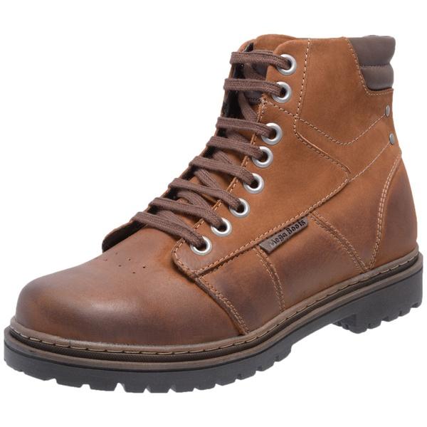 Bota Coturno em Couro Mega Boots Taupe-Cafe