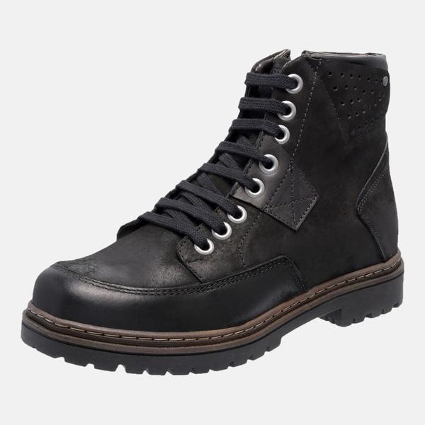 Bota Coturno em Couro Mega Boots 6029 Preto