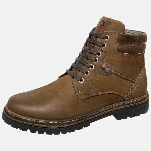 Bota Coturno em Couro Mega Boots Chumbo