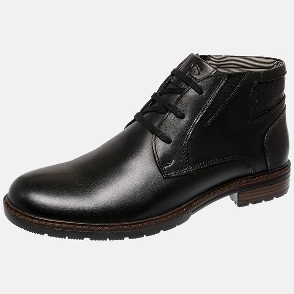 Bota Urbana em Couro Mega Boots Preto-Preto 50001