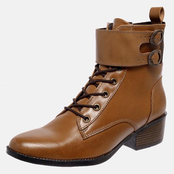 Bota Country Mega Boots em Couro Legitimo - Avelã - 1344