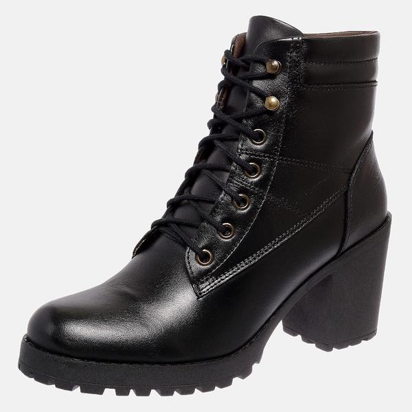 Bota Tratorada Mega Boots em Couro Legitimo - Preto - 1429