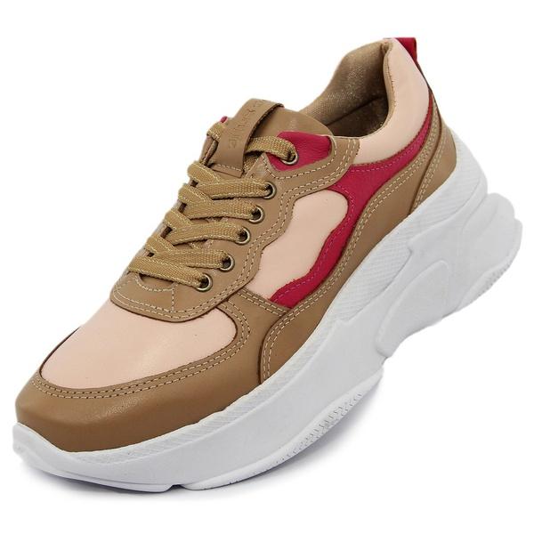 Tênis Sneaker Feminino em Couro 2003 Avela-Flamingo