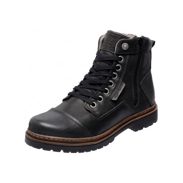 Bota Coturno em Couro Mega Boots 6017 Preto