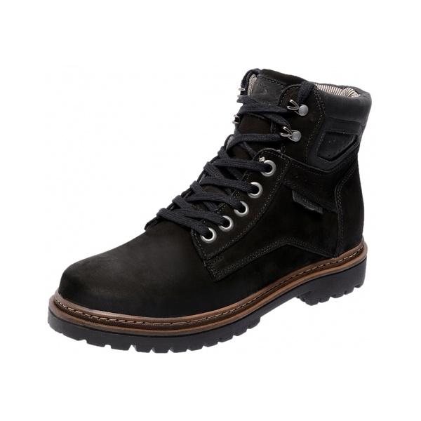 Bota Coturno em Couro Mega Boots 6019 Preto-Preto