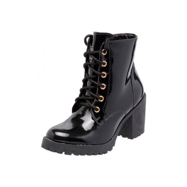 Bota Tratorada Mega Boots 1407 Verniz Preto