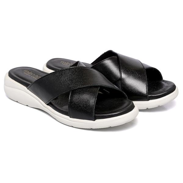 Sandália Em Couro Soft Preta