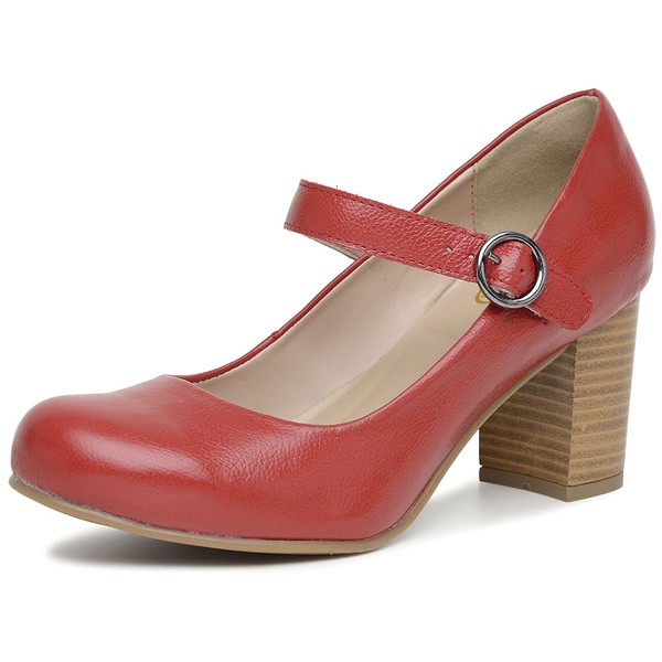 Sapato Mary Jane Couro Legítimo