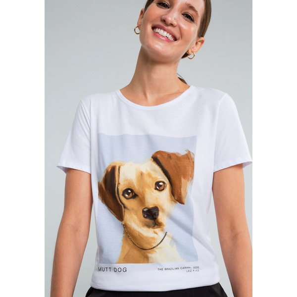 T-shirt estampada Mutt dog -LEZALEZ