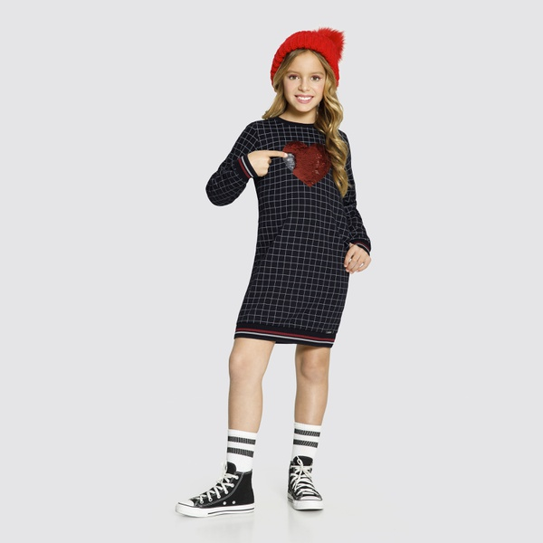 Vestido Infantil Manga Longa Alakazoo 61624
