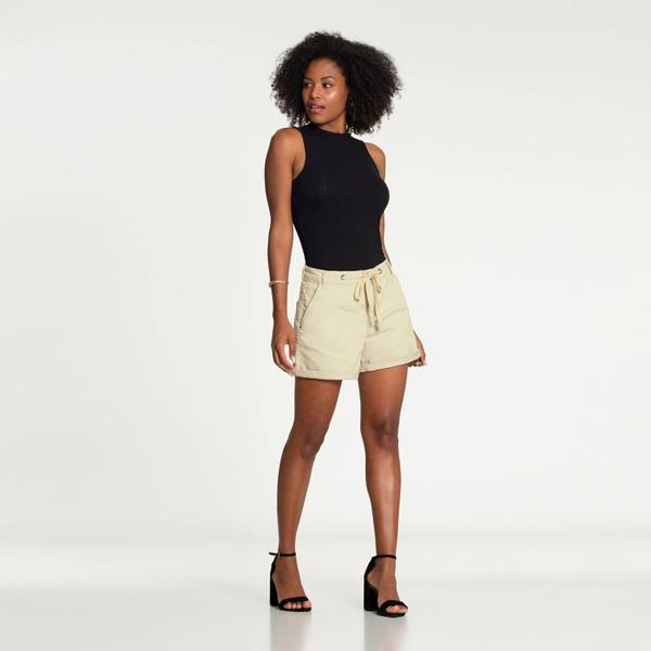 Shorts Boyfriend Sarja Cadarço Lunender 47870