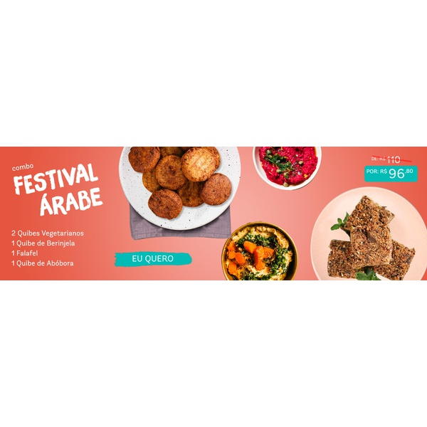 Combo Festival Árabe (5 itens)