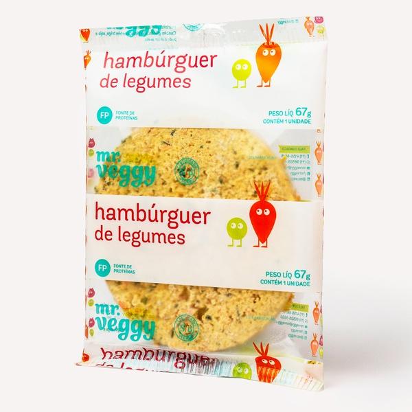 hambúrguer de legumes individual