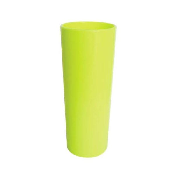 Copo Long Drink Amarelo Flour- Caixa com 100 unidades