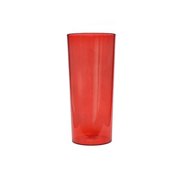 Copo Long Drink Vermelho - Caixa com 100 unidades