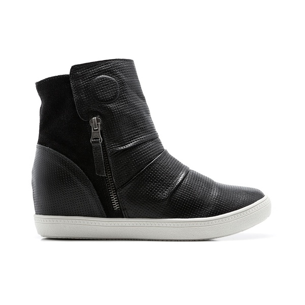 Tênis Sneakers Isa Quebec c/ Salto Interno e Zíperes Lateral 4,5 cm