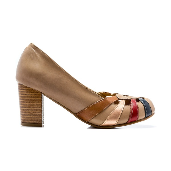 Sapato Feminino Quebec Retrô Munique Nude
