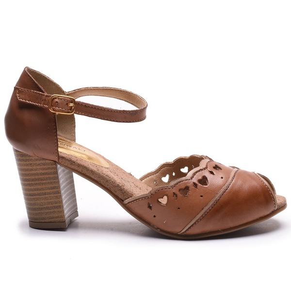 Sapato Feminino Quebec Retrô Sophia Brown