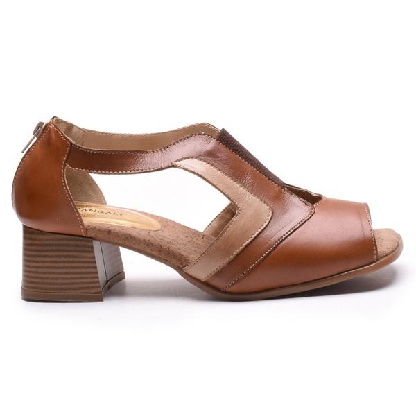 Sapato Feminino Retrô Quebec Emma Chocolate