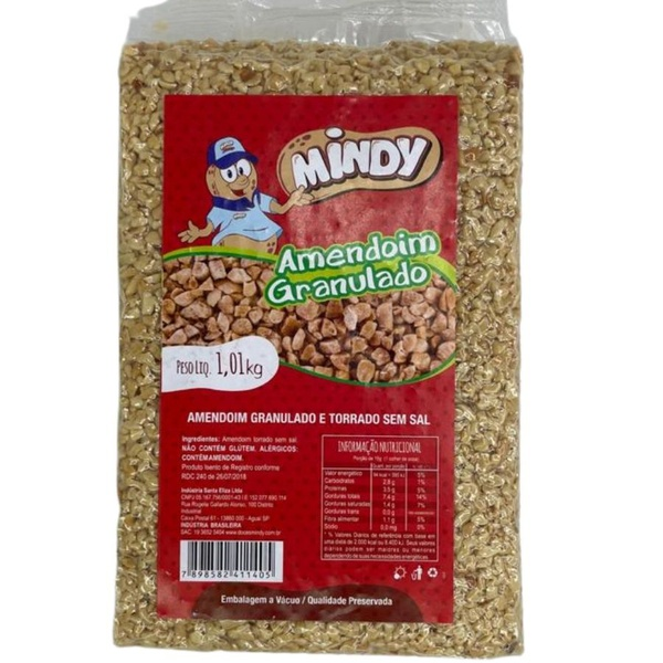 Amendoim Granulado 1,01kg Mindy loja embalagens sabrina