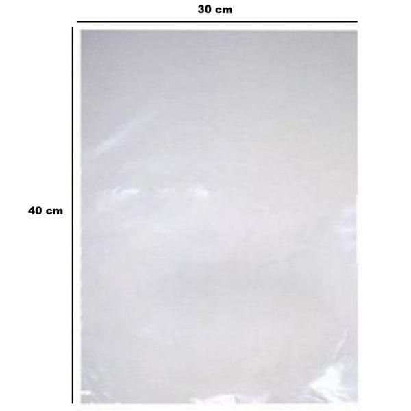 Saco Plástico PE 30x40cm Transparente 1kg-006