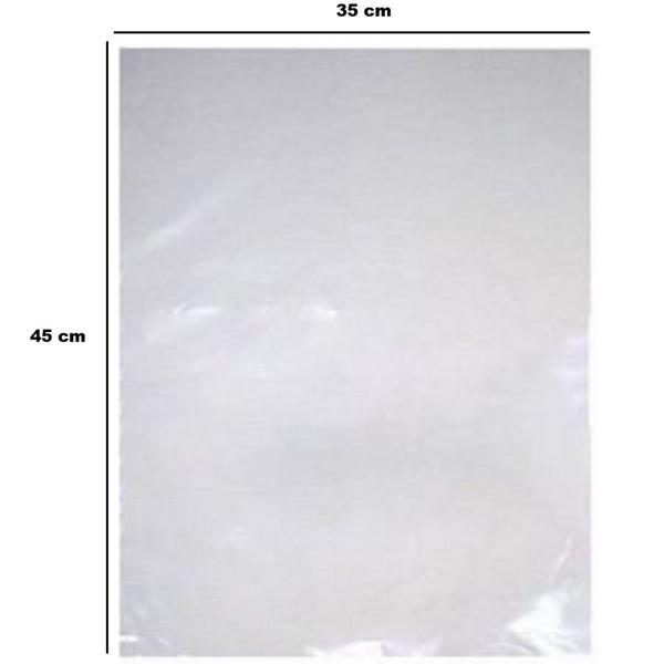 Saco Plástico PE 35x45cm transparente 1kg-006