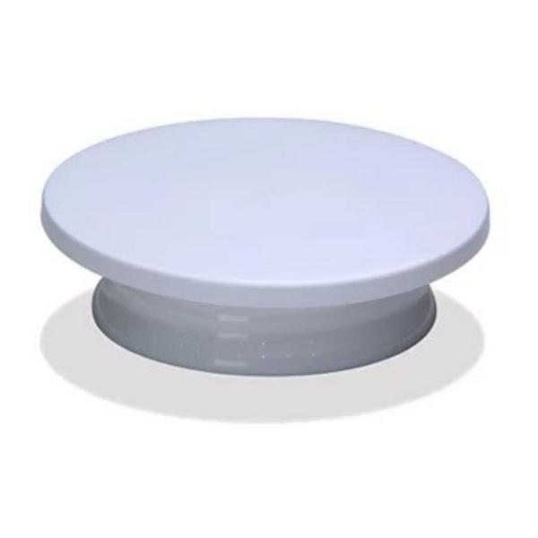 Prato Giratório para Bolos Bailarina com Esfera Branca 30x8cm