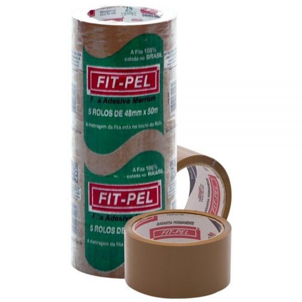 Fita Adesiva Marrom 48mmx50m FIT-PEL C/ 5 und