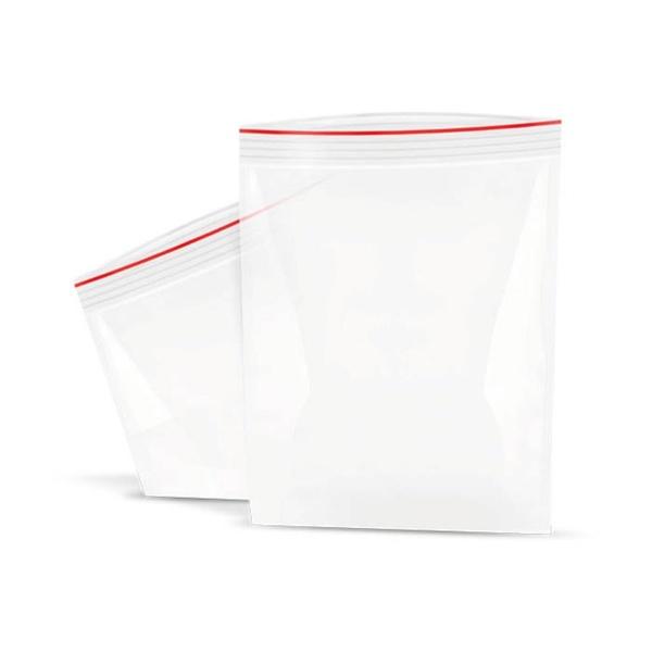 Saco Plástico Transparente com Fecho Ziplock c/100 und