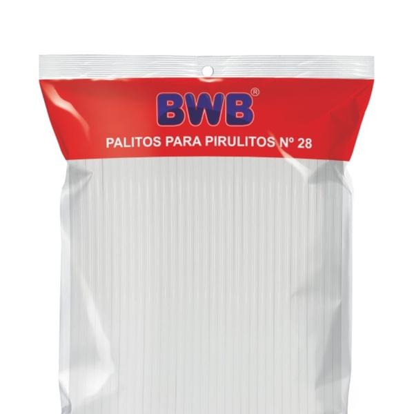 Palito para Pirulito Pet N28 Branco C/50 und