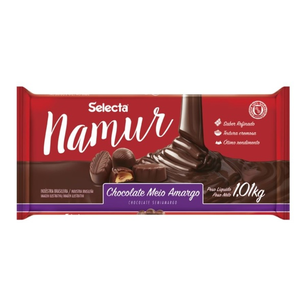 Chocolate Namur Meio Amargo 1,01kg