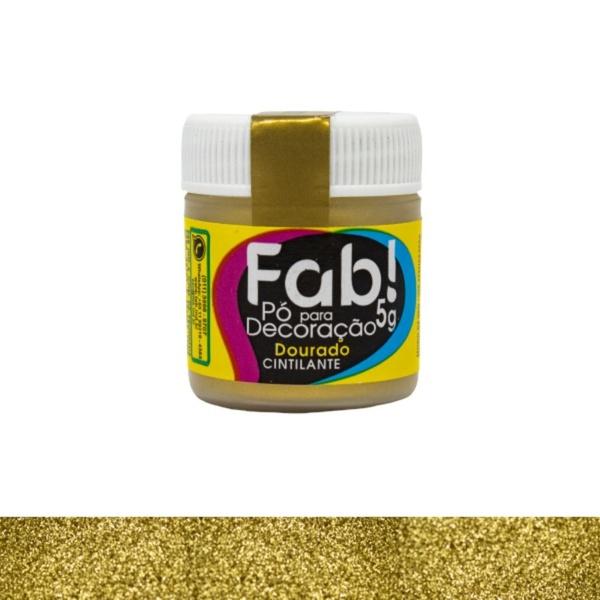 Pó para Decoração Dourado Fab 3g