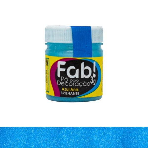 Pó para Decoração Azul Anis Fab 3g