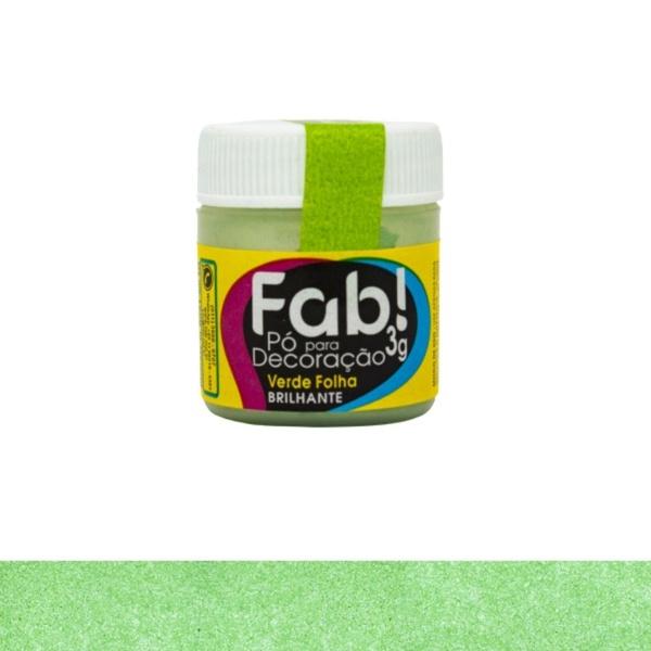 Pó para Decoração Verde Folha Fab 3g
