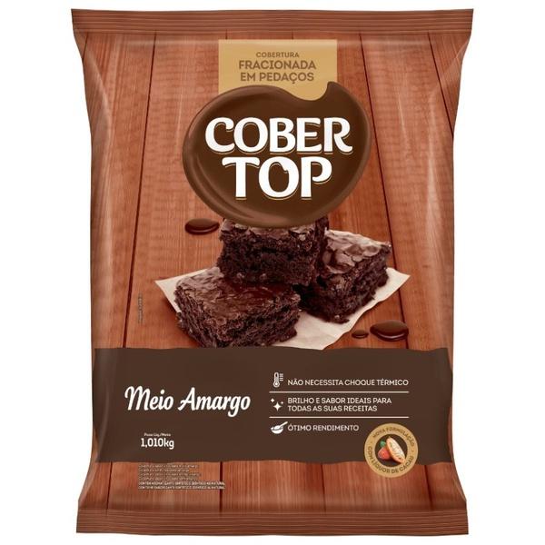 Cobertura de Chocolate Cobertop Meio Amargo em Pedaços 1,010kg