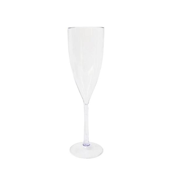 Taça Champagne 180ml Acrílica Cristal