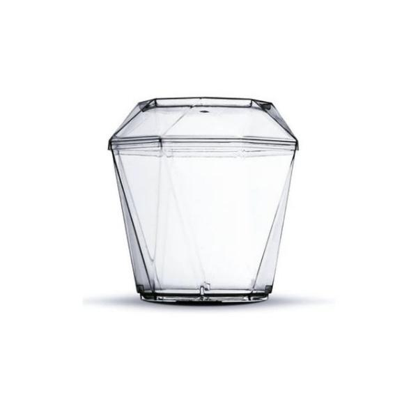 Copo DiamantInho 150ml Cristal com Tampa c/10 und