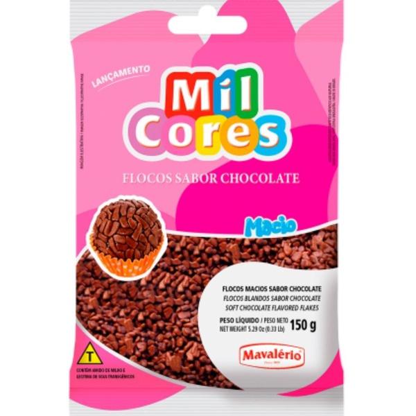 Granulado 150g Flocos Macio Chocolate Mavalério