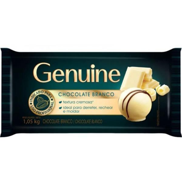 Chocolate Genuine Branco 1,05kg em Barra