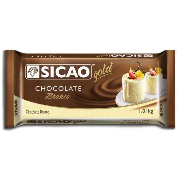 Chocolate Sicao Gold Branco1,01kg em Barra loja embalagens sabrina