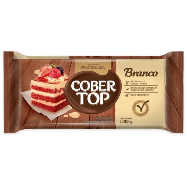 Chocolate Fracionado Cobertop Branco 1,10kg em Barra