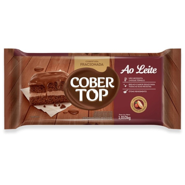 Cobertura de Chocolate Cobertop Ao Leite em Pedaços 1,010kg